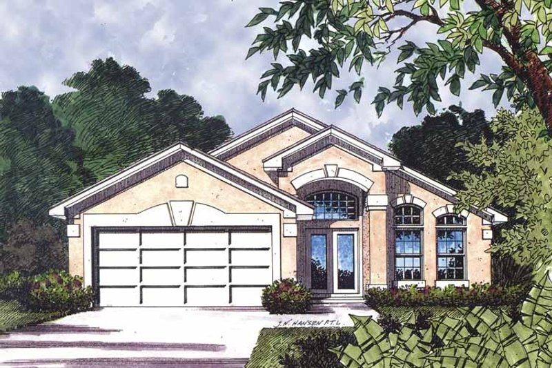 Mediterranean Exterior - Front Elevation Plan #417-586