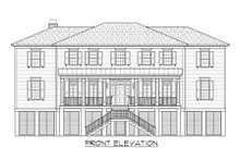 Beach Exterior - Front Elevation Plan #1054-84