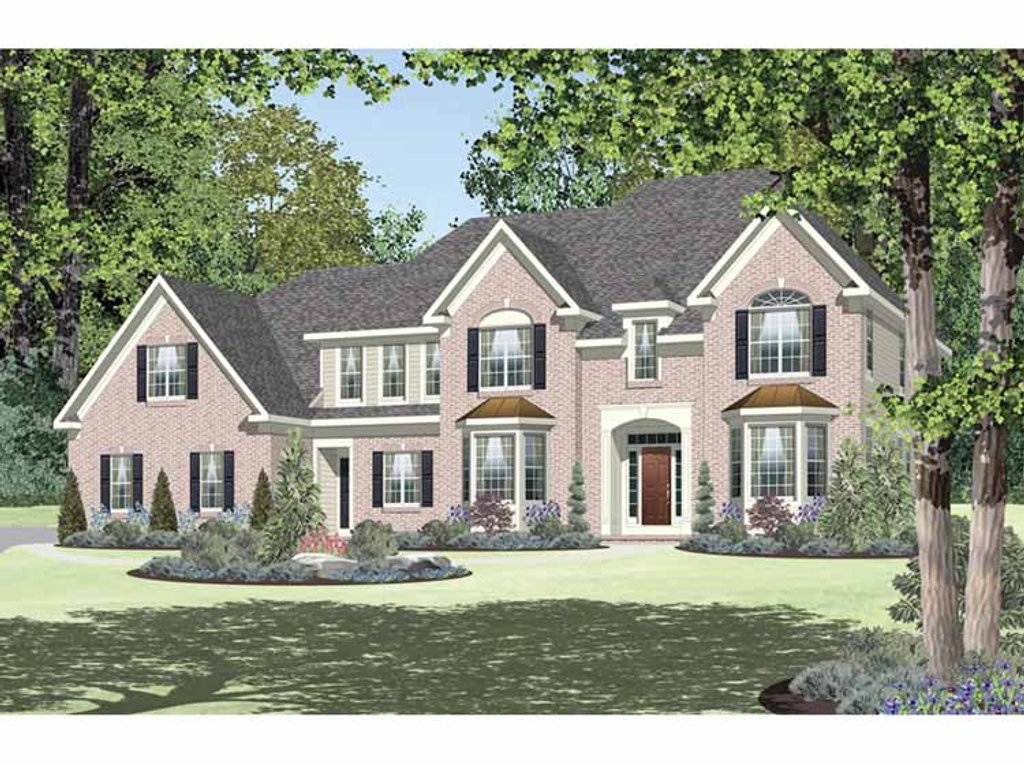 georgian house plans classical style house plan 4 beds 3 5 baths 3661 sq ft 11861