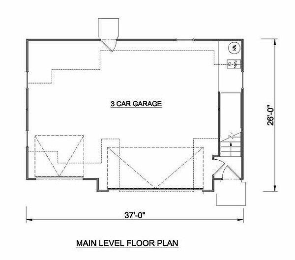 Tudor Floor Plan - Lower Floor Plan #116-227