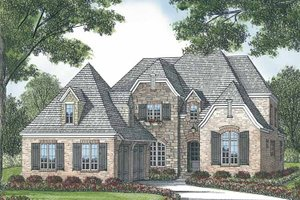 House Plan Design - European Exterior - Front Elevation Plan #453-576