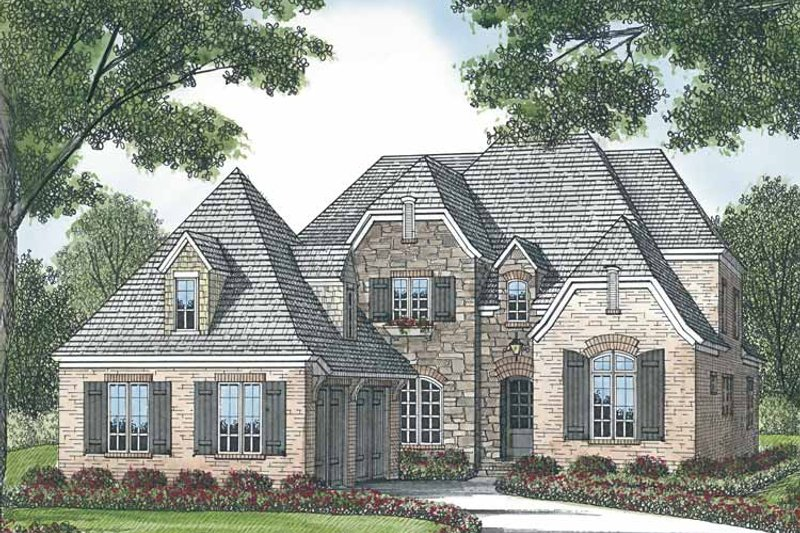 House Plan Design - European Exterior - Front Elevation Plan #453-576