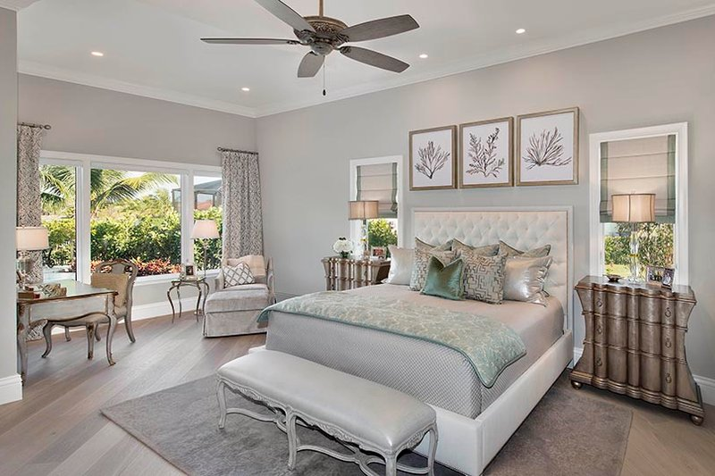 Mediterranean Interior - Master Bedroom Plan #1017-166 - Houseplans.com