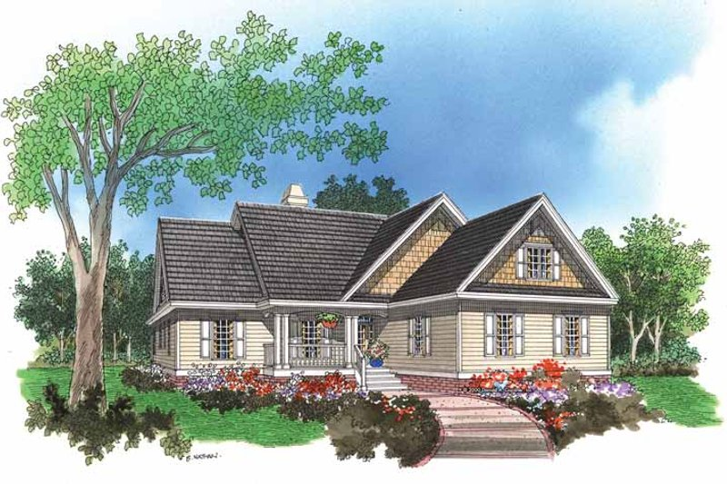 Ranch Exterior - Front Elevation Plan #929-560