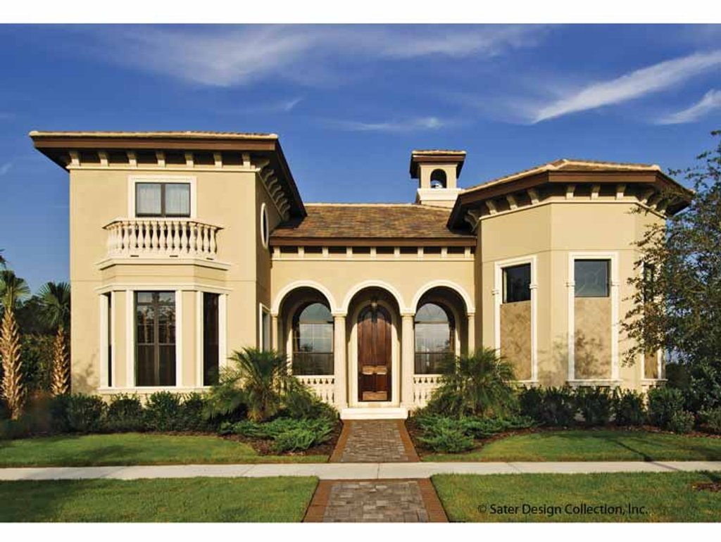 The Sater Design Collection mediterranean style house plan - 4 beds 3.5 baths 3142 sq/ft plan #930-428