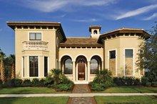 House Plan Design - Mediterranean Exterior - Front Elevation Plan #930-428