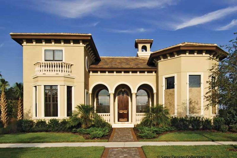 Mediterranean Exterior - Front Elevation Plan #930-428 - Houseplans.com