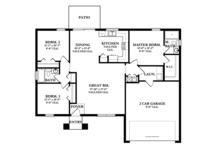 Mediterranean Floor Plan - Main Floor Plan Plan #1058-33