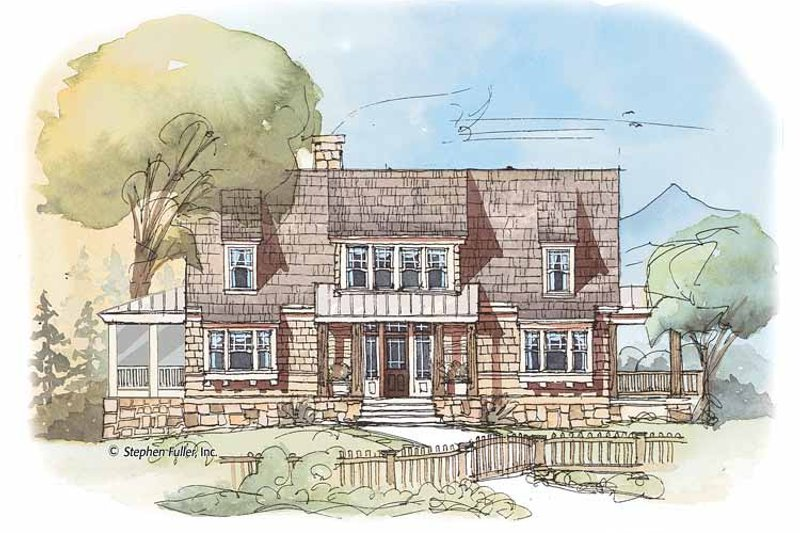 Country Exterior - Front Elevation Plan #429-426