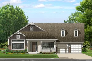 Ranch Exterior - Front Elevation Plan #1058-167