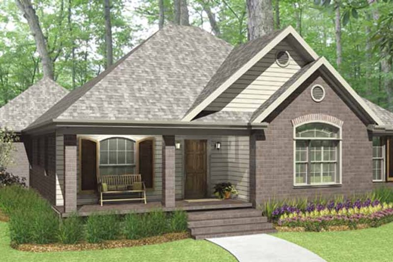 Country Exterior - Front Elevation Plan #406-9627 - Houseplans.com