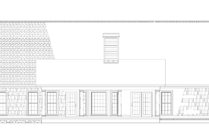 Country Exterior - Rear Elevation Plan #17-2795