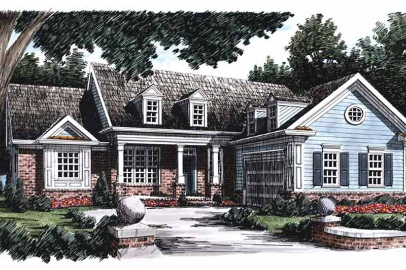 Colonial Exterior - Front Elevation Plan #927-788