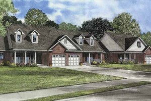 House Plan Design - Country Exterior - Front Elevation Plan #17-3076