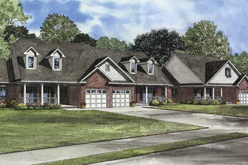 Architectural House Design - Country Exterior - Front Elevation Plan #17-3076