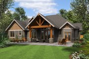 Craftsman Style House Plan - 4 Beds 4 Baths 3340 Sq/Ft Plan #48-681 Exterior - Rear Elevation