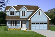 Traditional Style House Plan - 4 Beds 2.5 Baths 1838 Sq/Ft Plan #116-212 Exterior - Front Elevation
