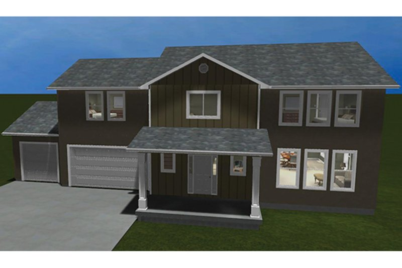 Dream House Plan - Traditional Exterior - Front Elevation Plan #1060-15