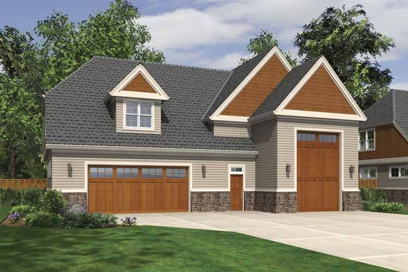 Exterior - Front Elevation Plan #48-881