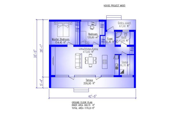 Modern Floor Plan - Main Floor Plan #549-34