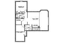 Ranch Floor Plan - Lower Floor Plan Plan #1064-4