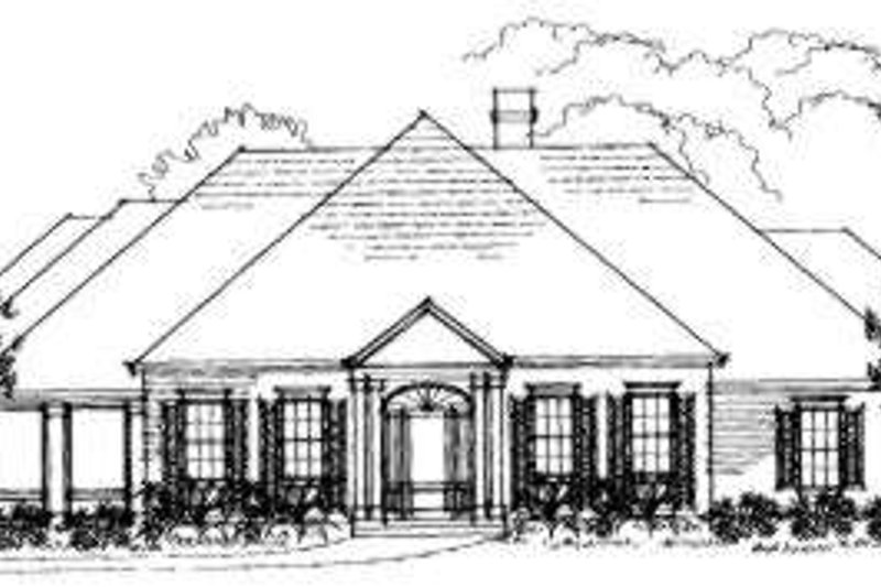 Southern Exterior - Front Elevation Plan #325-150