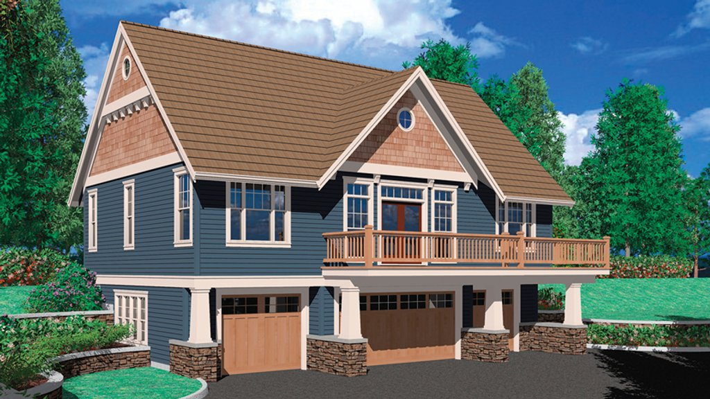 Craftsman style house plan 1 beds 1 5 baths 1334 sq ft for Craftsman vs mission style