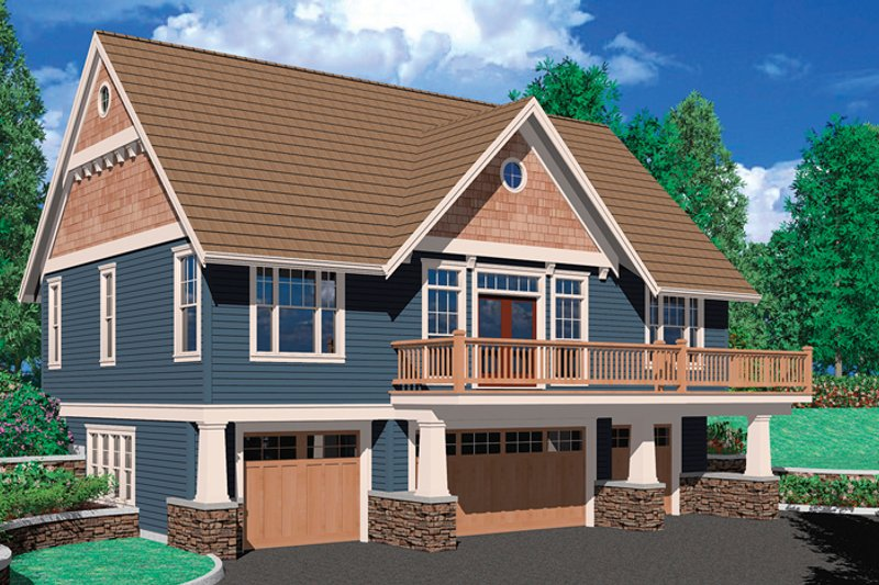 Craftsman Exterior - Front Elevation Plan #48-895 - Houseplans.com