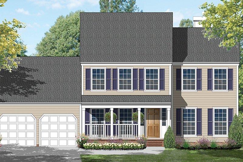 Colonial Exterior - Front Elevation Plan #1053-65 - Houseplans.com