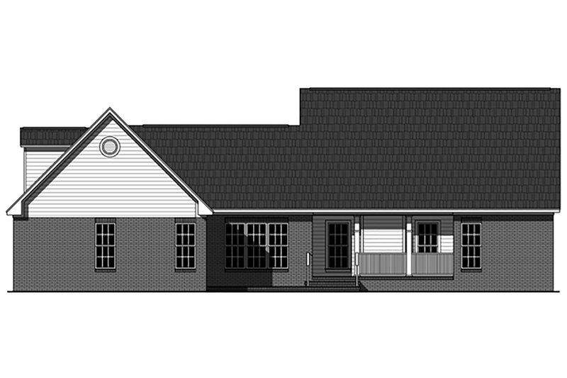 Country Exterior - Rear Elevation Plan #21-375 - Houseplans.com