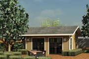 Traditional Style House Plan - 1 Beds 0 Baths 240 Sq/Ft Plan #499-2 Exterior - Front Elevation