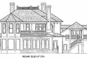 Southern Style House Plan - 4 Beds 5 Baths 4696 Sq/Ft Plan #27-207 Exterior - Rear Elevation