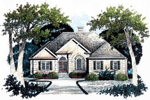 Architectural House Design - Traditional Exterior - Front Elevation Plan #429-78