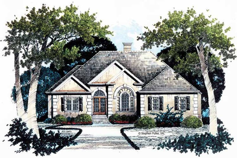 Traditional Exterior - Front Elevation Plan #429-78 - Houseplans.com