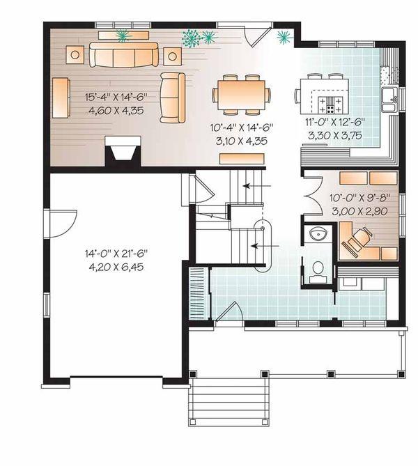 Country Floor Plan - Main Floor Plan Plan #23-2542