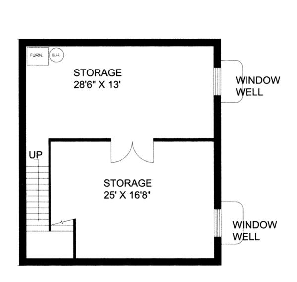 Contemporary Floor Plan - Lower Floor Plan Plan #117-860