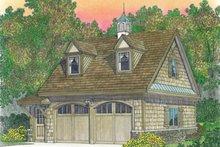 Craftsman Exterior - Front Elevation Plan #1016-98