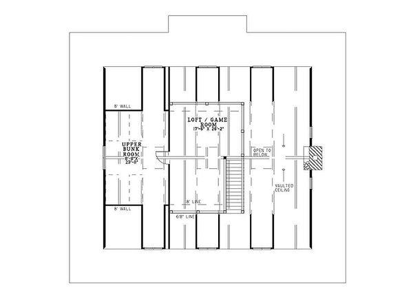 Country Floor Plan - Upper Floor Plan Plan #17-653