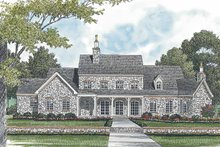House Plan Design - European Exterior - Rear Elevation Plan #453-592