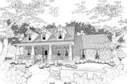 Craftsman Style House Plan - 3 Beds 3 Baths 1765 Sq/Ft Plan #120-156 Exterior - Front Elevation