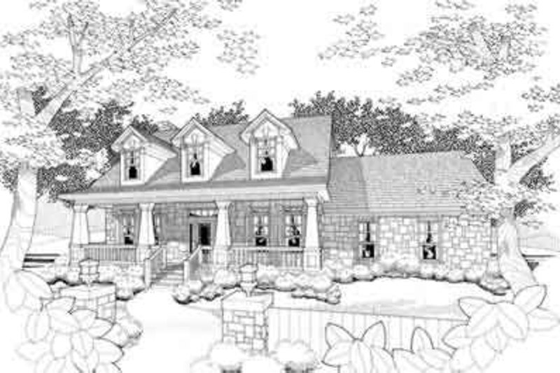 House Plan Design - Craftsman Exterior - Front Elevation Plan #120-156