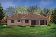 Mediterranean Style House Plan - 3 Beds 2 Baths 1808 Sq/Ft Plan #930-452 Exterior - Rear Elevation