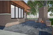 Contemporary Style House Plan - 3 Beds 2.5 Baths 2344 Sq/Ft Plan #923-152 Exterior - Rear Elevation