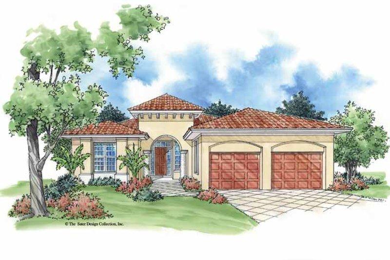 Architectural House Design - Mediterranean Exterior - Front Elevation Plan #930-387
