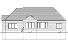 Home Plan - Ranch Exterior - Rear Elevation Plan #1010-107