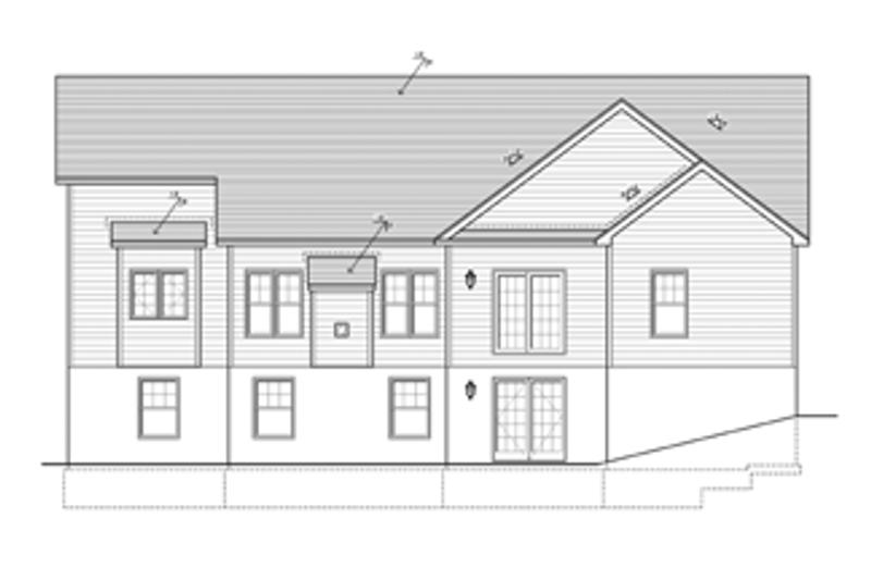 Ranch Exterior - Rear Elevation Plan #1010-32 - Houseplans.com