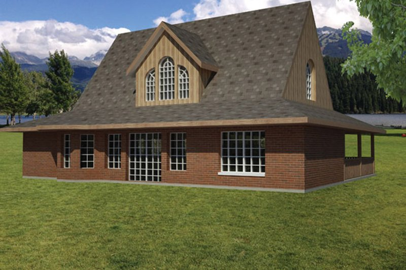 Colonial Exterior - Rear Elevation Plan #1061-16 - Houseplans.com