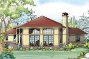 Mediterranean Style House Plan - 3 Beds 2 Baths 2265 Sq/Ft Plan #124-936 Exterior - Rear Elevation