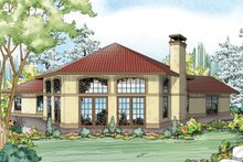 Home Plan - Mediterranean Exterior - Rear Elevation Plan #124-936