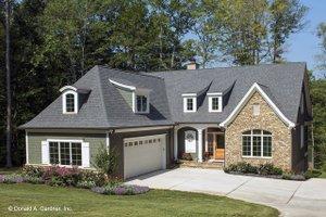 Cottage Exterior - Front Elevation Plan #929-960